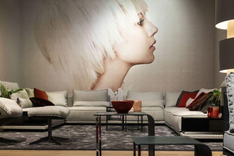 фреска и серый модульный