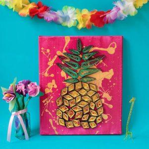 ананас из бумаги украшение на стену