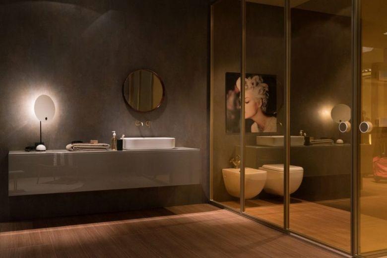 Декор ванной акцентное освещение