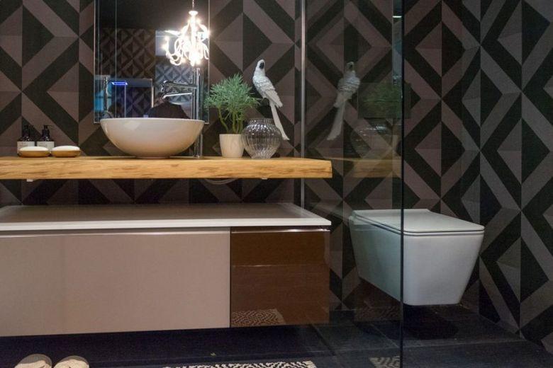 Декор ванной геометрические узоры