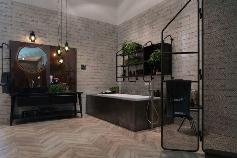 Декор ванной городской стиль