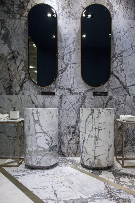 Декор ванной мрамор