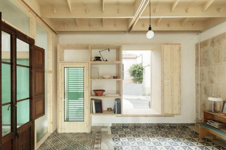 Фанера в интерьере потолок мебель