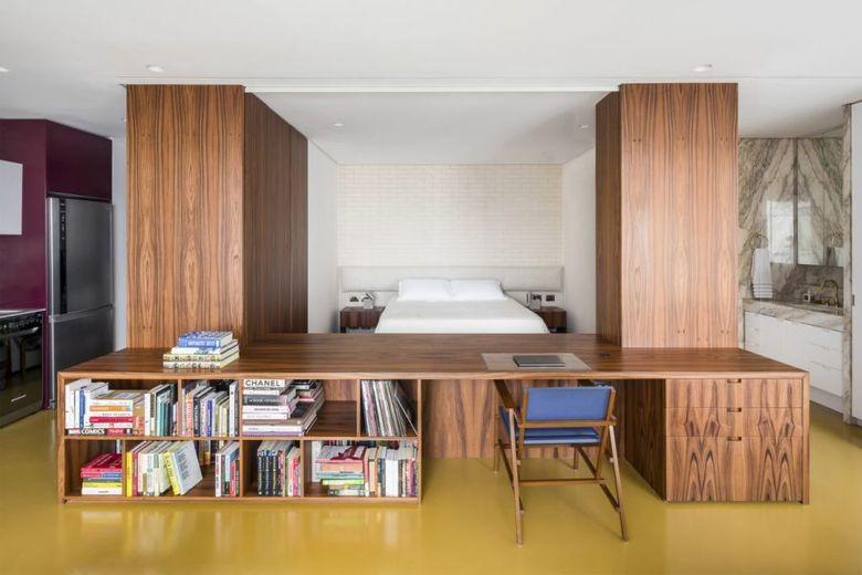 Интерьер квартиры студии спальня