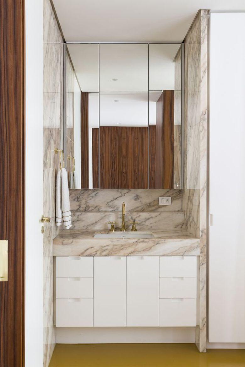 Интерьер квартиры студии ванна