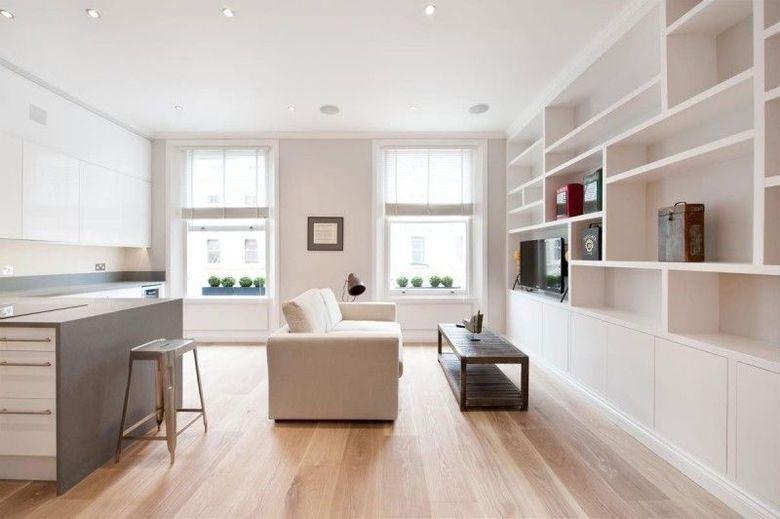 белая мебель с оттенками