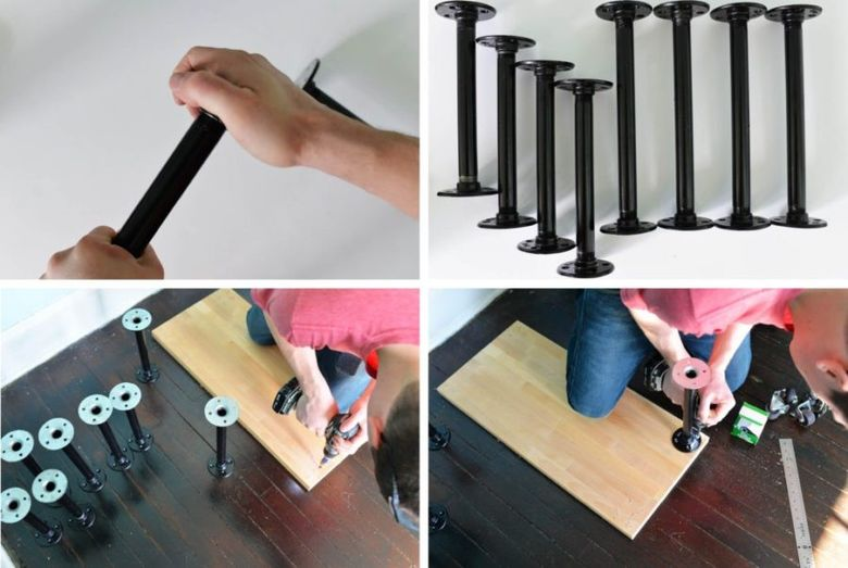 столик на колесиках шаг 1