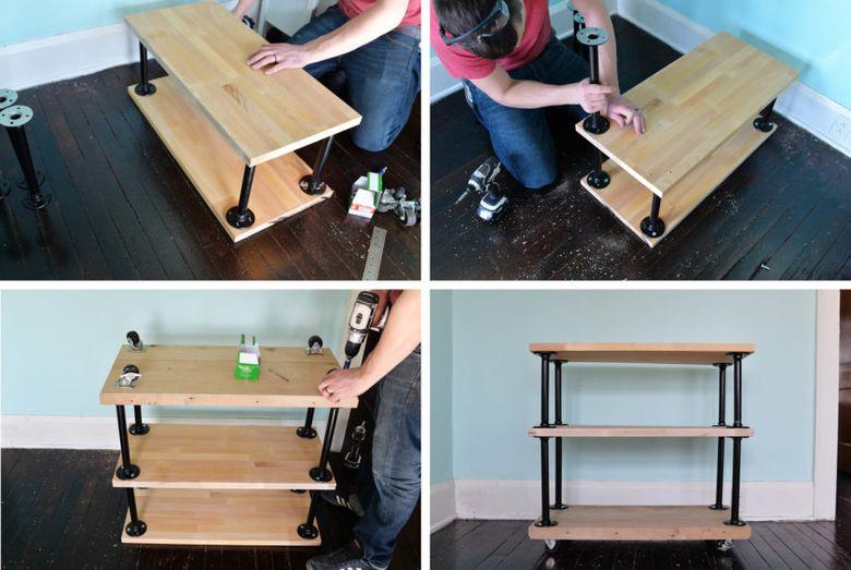 столик на колесиках шаг 2