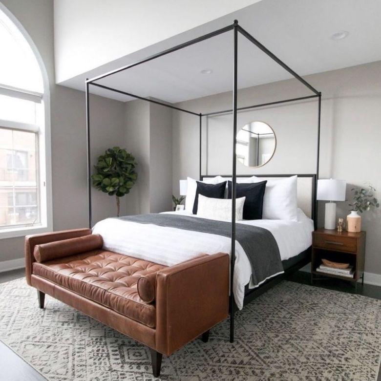 Кровать с балдахином графический дизайн