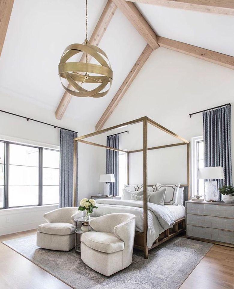 Кровать с балдахином минимализм