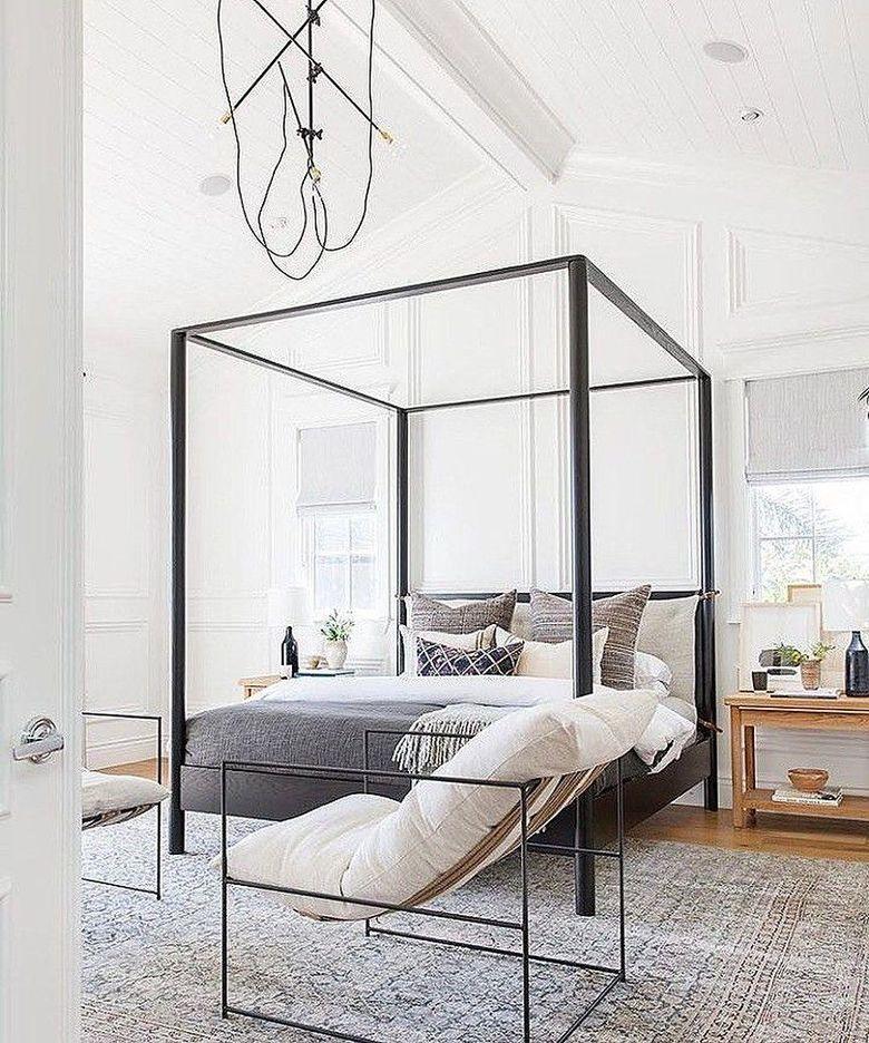 Кровать с балдахином простая рама