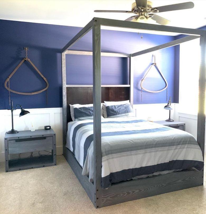 Кровать с балдахином только рама