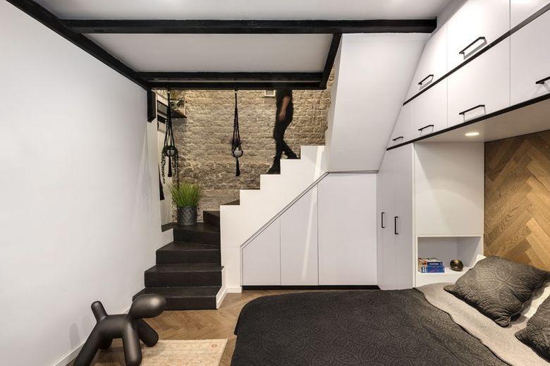 спальня в подвале