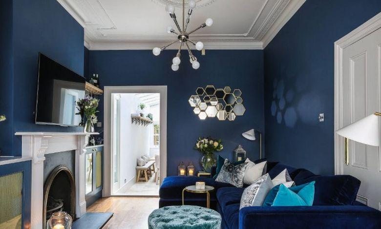 Морская синяя гостиная