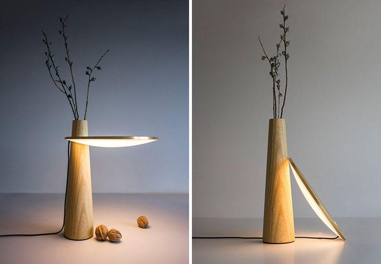 лампа и ваза