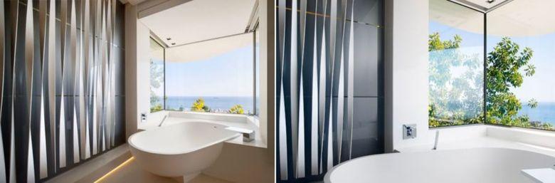 Окно угловое с отдельно стоящей ванной