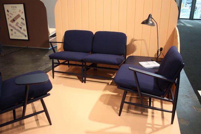кресла темно синий текстиль