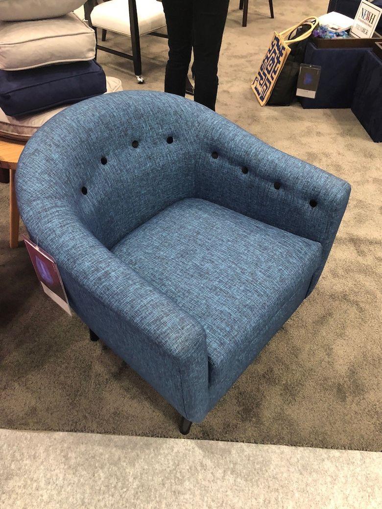 кресло твидовый стиль
