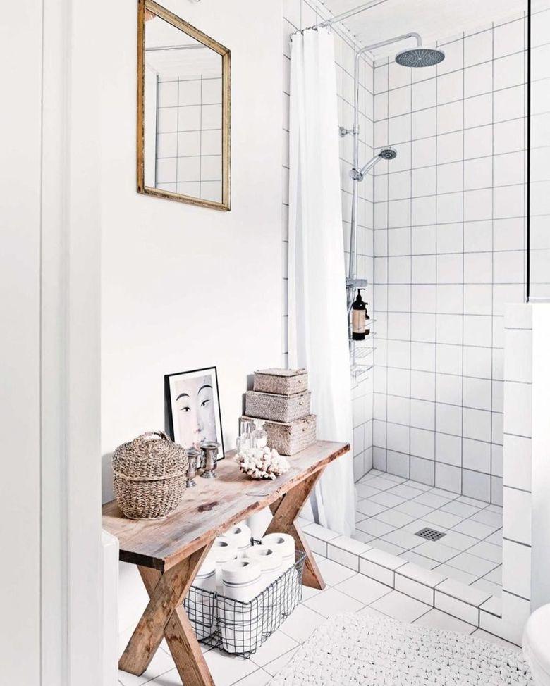 Скамейка в ванную консольный стол