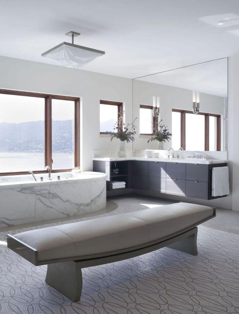 Скамейка в ванную стильная
