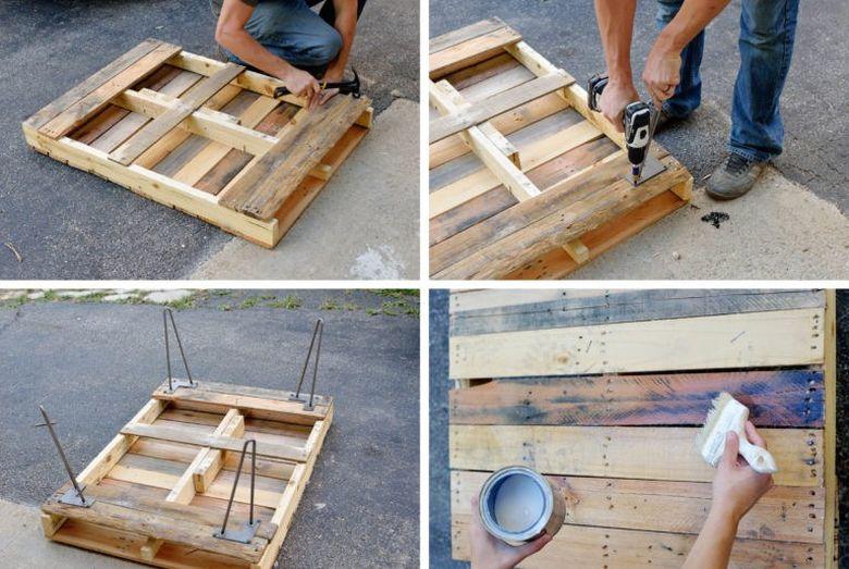 Стол из поддонов инструкция