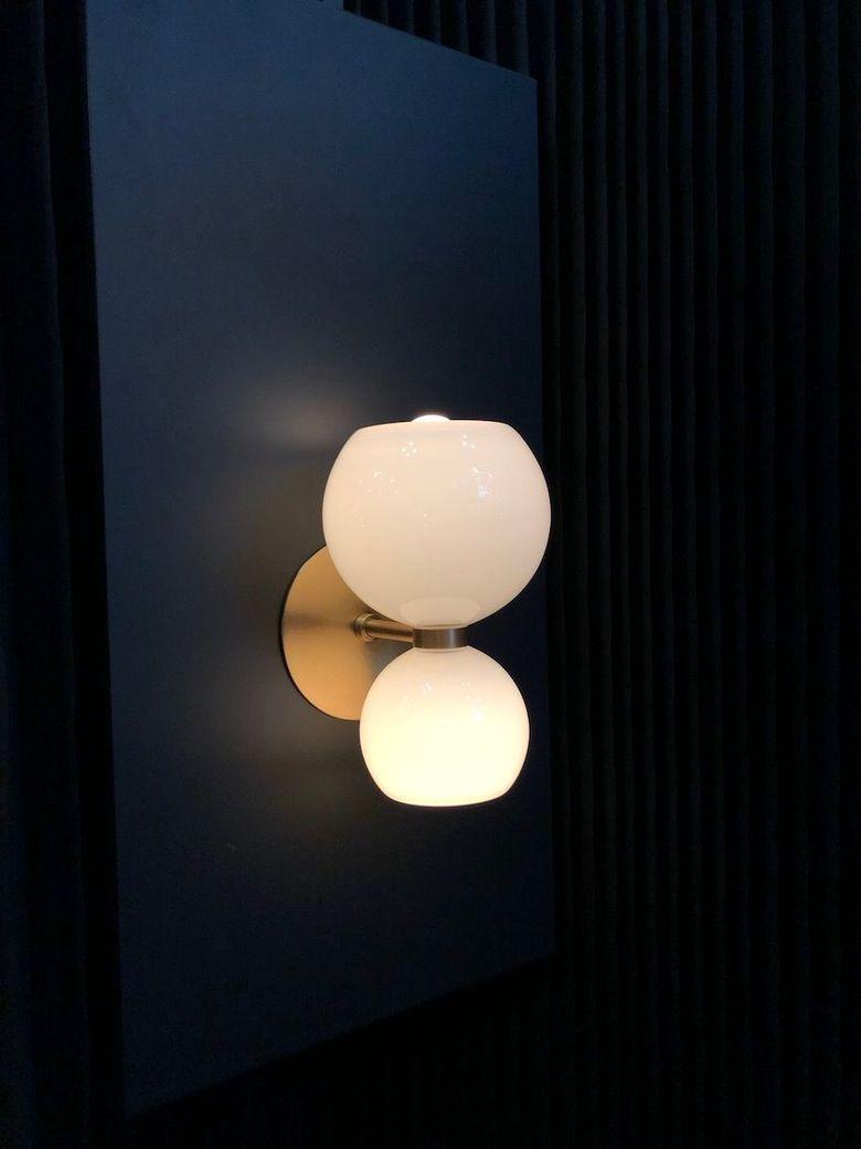 Светильники шары двойной шар