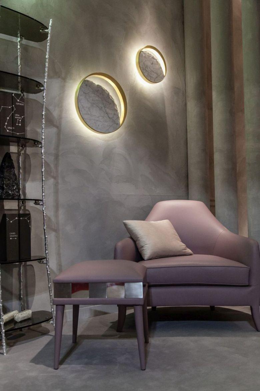 лампы из мрамора и металла