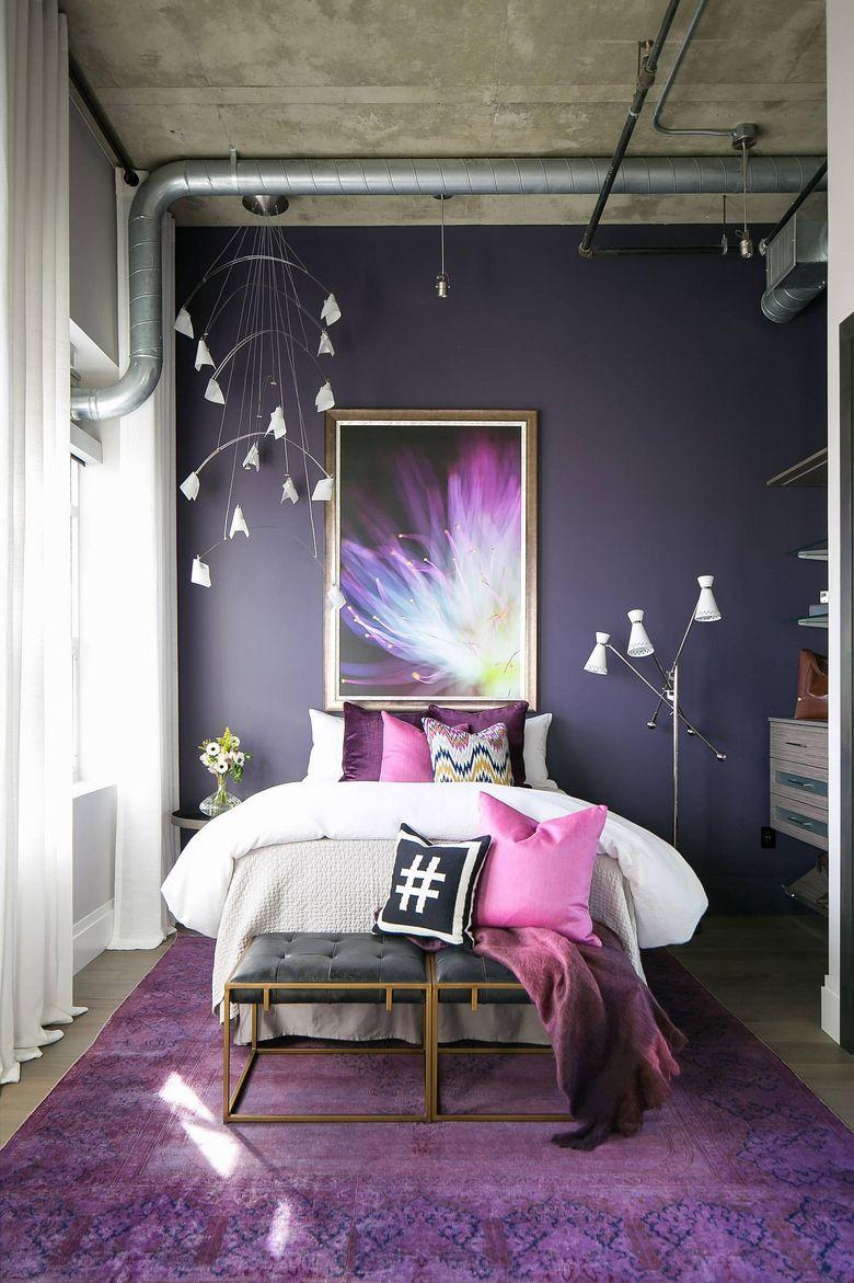 спальня в современном индустриальном стиле