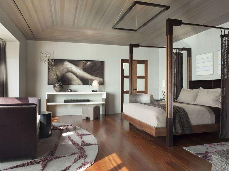 кровать с балдахином в современном стиле