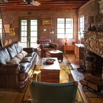 гостиная в деревенском стиле