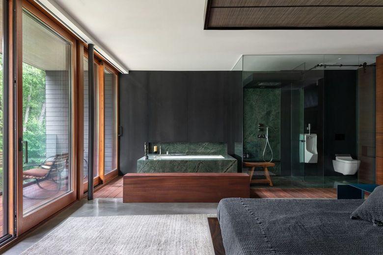 ванная комната часть спальни