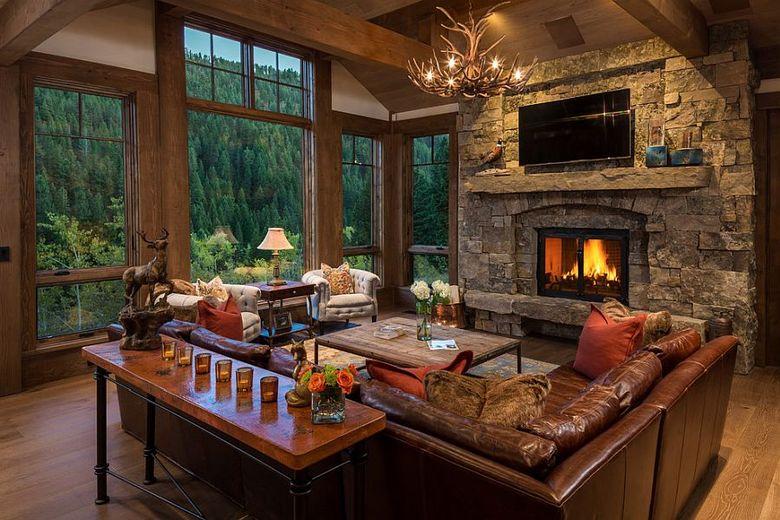 Классическая гостиная в загородном стиле