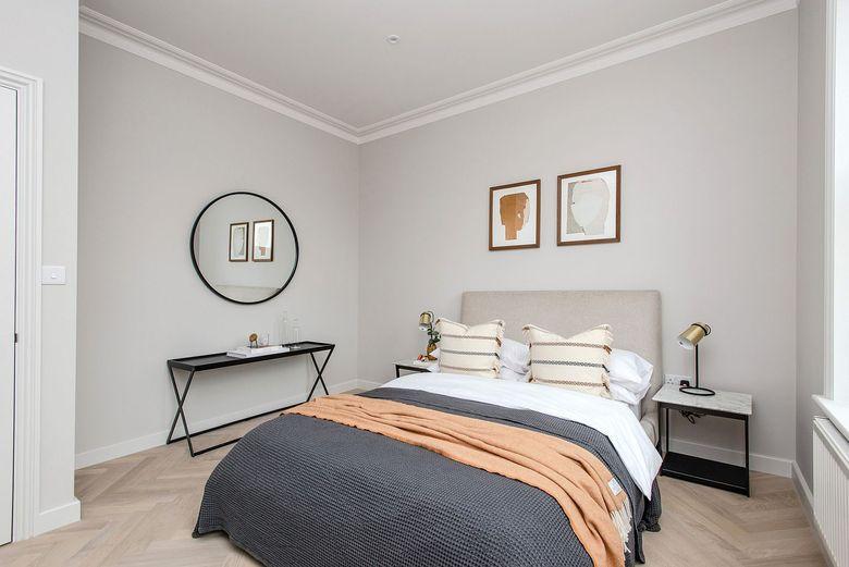 спальня серого цвета