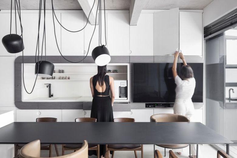 Кухня в нейтральной цветовой гамме