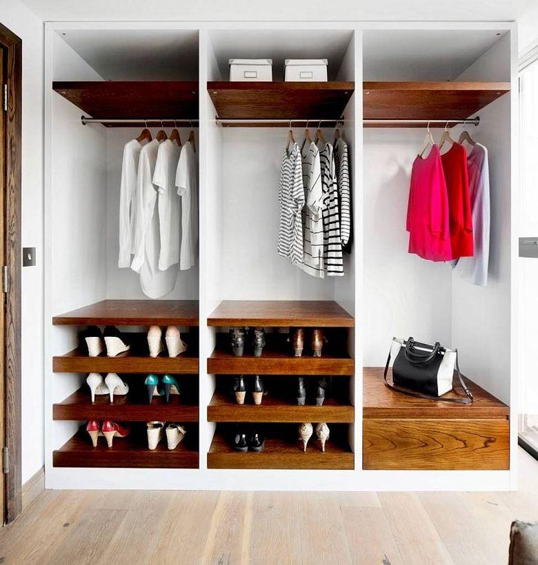 Деревянные полки для шкафа белого цвета