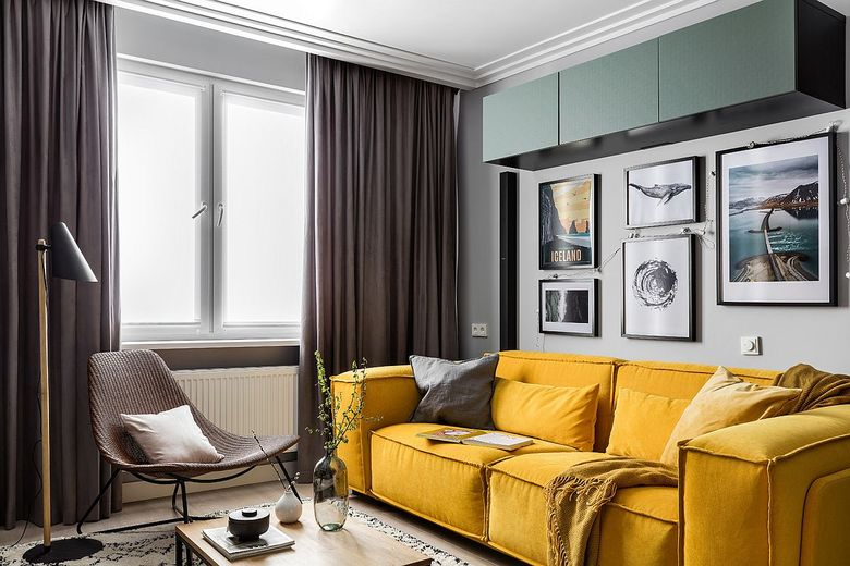 Диваны для гостиной плюшевый диван желтого цвета