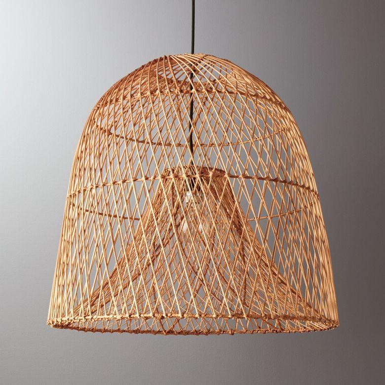 Cовременные светильники в виде винтажной рыболовной корзины