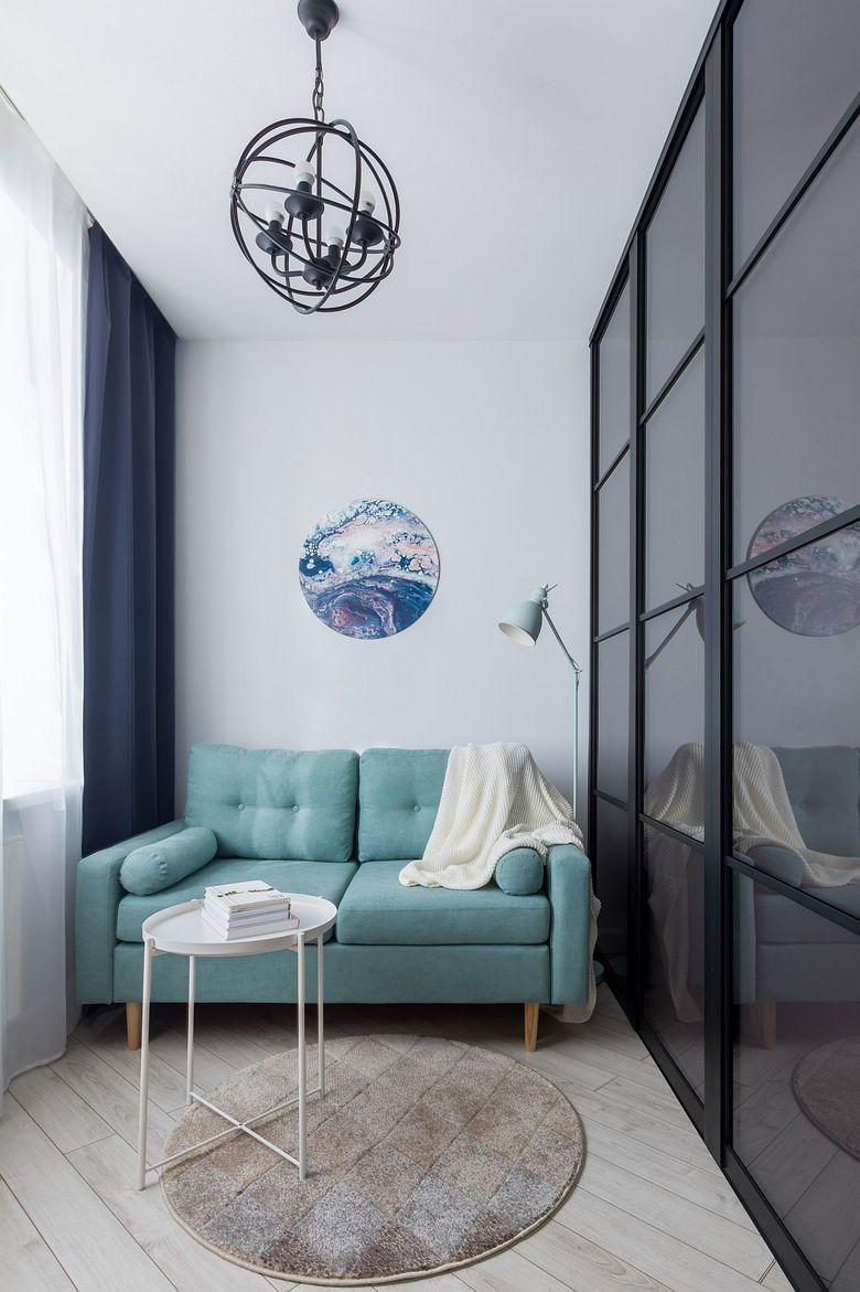 Диваны для гостиной голубой диван