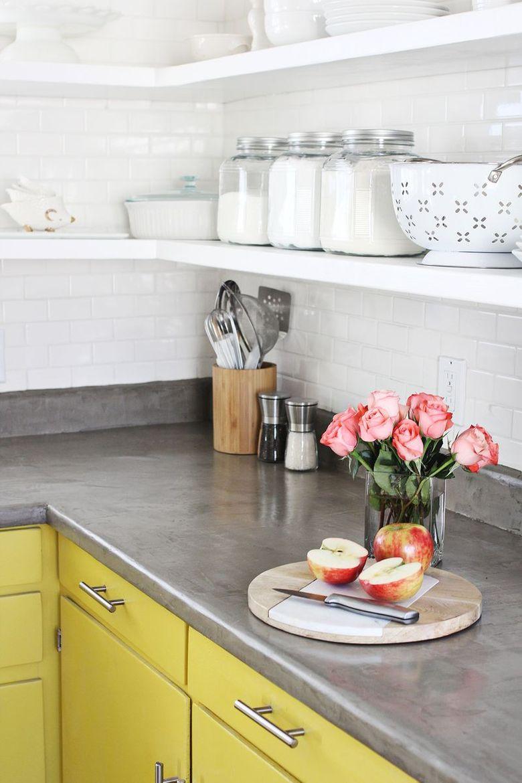 Тренды кухни 2020 кухонная столешница из бетона