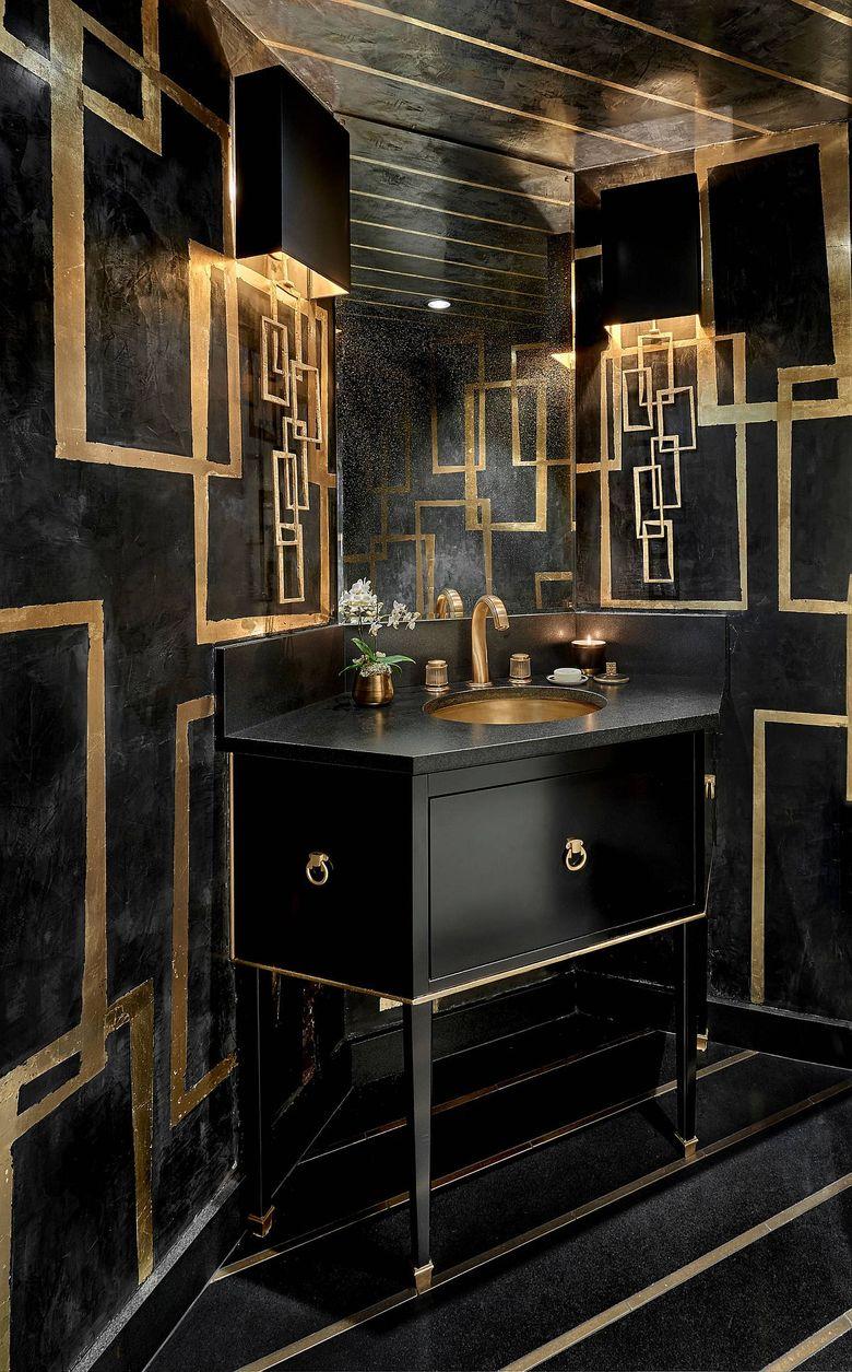 Черный цвет в туалетной комнате