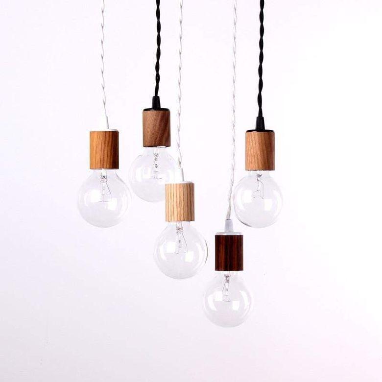 Cовременные светильники шпон из натурального дерева