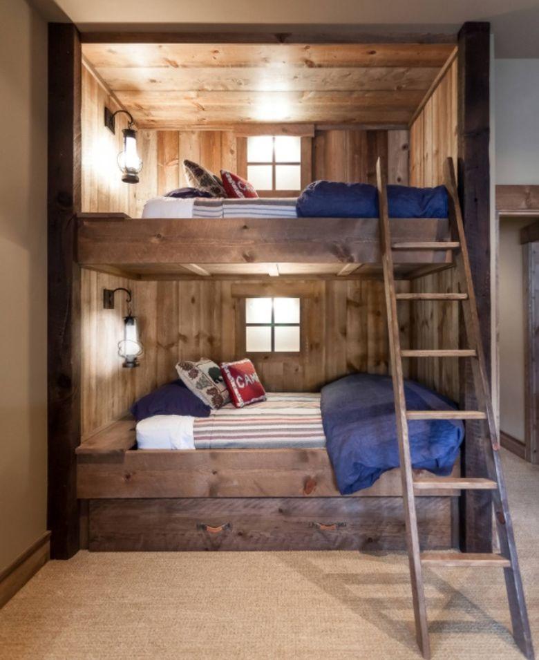 Двухъярусная кровать фото по-настоящему уютными