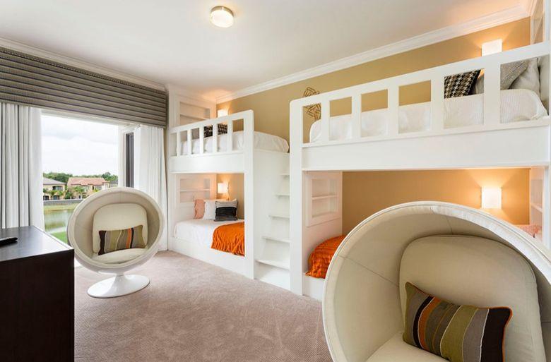 Двухъярусная кровать фото простые и нейтральные цвета