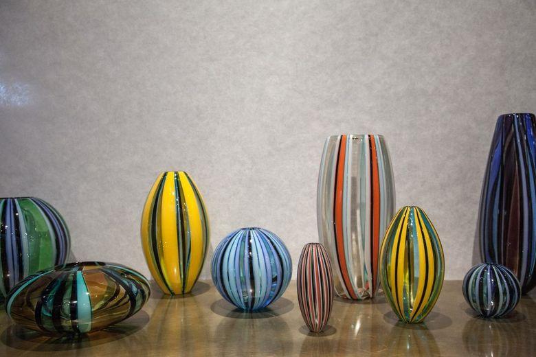 Аксессуары для дома вазы из дутого стекла
