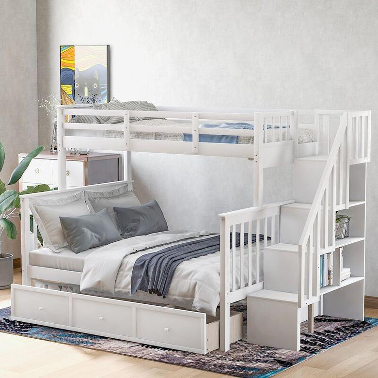 Двухъярусная кровать фото стильный и простой каркас