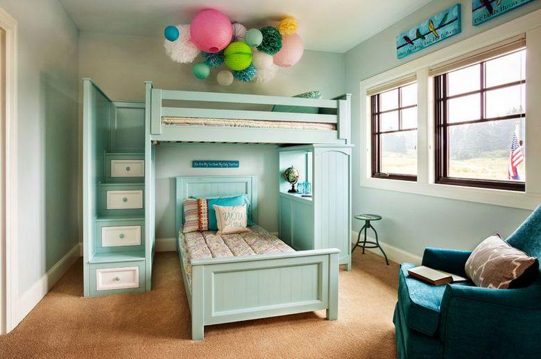 Двухъярусная кровать фото для малышей ступени
