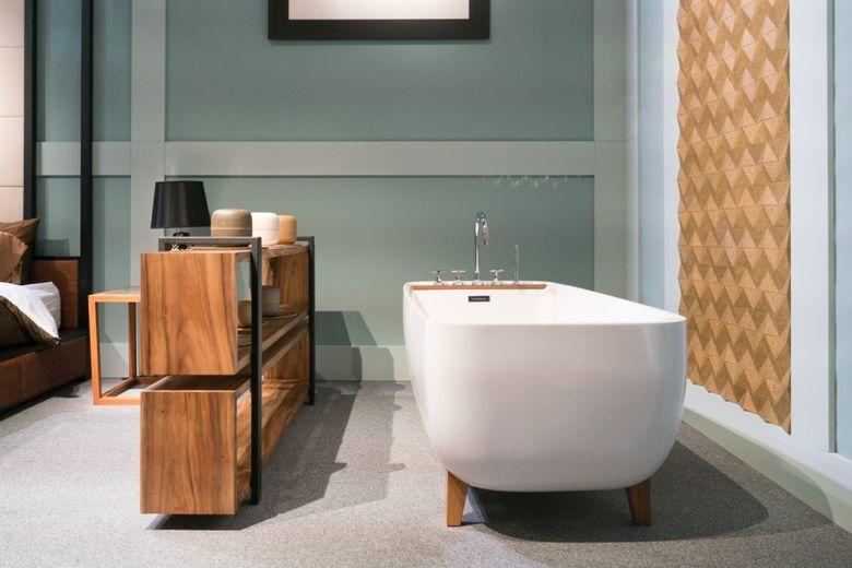 Современный дизайн добавление ванны в спальню