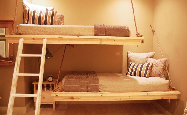 Двухъярусная кровать фото подвесные