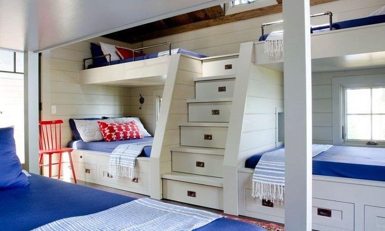Двухъярусная кровать фото морская тематика