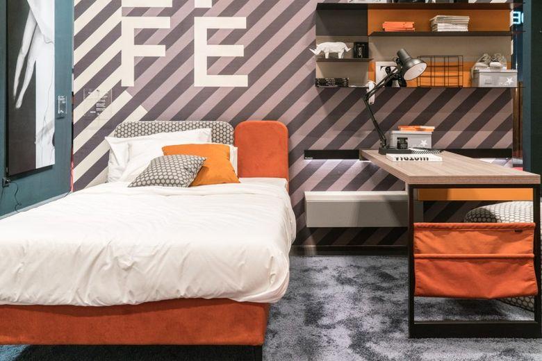 Современный дизайн для комнаты в общежитии